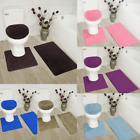 Kyпить 3-Piece Bathroom Bath Mat Contour Rug Set with Toilet Lid Cover #7 на еВаy.соm