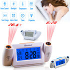 Digital LED Dual Laser Wall Projection Temperature Projector Alarm Time Clock