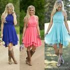 Plus Size 2-32 Short Homecoming Dress Evening Bridesmaid Ball Cocktail Prom Gown