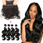 360 Lace Frontal Band Closure With Indian 4 Bundles/200g Body Wave Weft Hair 8A