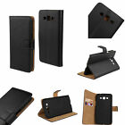 Luxury Black Folio Flip Leather Slot Wallet Stand Case Cover for Samsung Galaxy