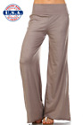 New Women's Mocha Wide Leg Palazzo Pants Boho Bohemian USA Made S M L XL