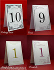 Personalised Table Numbers/Names Wedding, Party Any Occasion