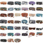 Friendship Bracelet 3 Wrap Bracelet Crystal Agate Peal Mix On Genuine Leather