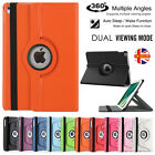 Leather 360 Rotating Stand Case Cover For iPad 234 / Mini 123 / Air1 2 / Pro 9.7