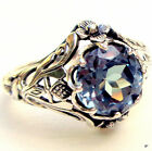 2.3ct Aquamarine Women Jewelry 925 Silver Wedding Engagement Ring Size 6-10