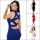 Women's Sleevesless Hollow Out Bandage Bodycon Party Clubwear Cocktail Dress