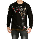 Pullover Herren Young & Rich Baumwolle Hoody Farbig Muster Rundhals by Sationela