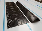 Black Painted Aluminium Chequer Plate Cut Sheets & Folded Angles / Corner Guards