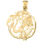 18K Gold Tropical Fish And Coral Pendant (Yellow or White Gold) - AZ710-18K