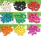 100pcs WOOD Round Loose Spacer Charms BEADS - Choose 6MM 8MM 10MM 12MM 14MM image