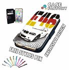 Bmw E46 M3 Stanced German Flag 3.2 SMG - Leather Flip Wallet Phone Case Cover