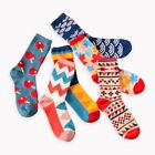 New Fashion Colour Men Casual Novelty Soft Comfort Crew Cotton Happy Socks