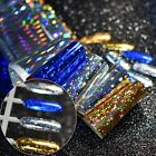 1 roll Holo Transfer Foils Laser Colorful Nail Starry Sky foil Paper Polish Glue