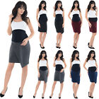 Purpless Maternity Pregnancy Formal Asymmetric Elasticated Belly Band Skirt 1508