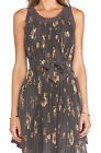 FREE PEOPLE Pleated Tent Dress Mocha New with Tags $148 Small S