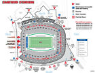 2 UGA Football Season Tickets Georgia Section 104 Row 50 Bulldogs (side by side)