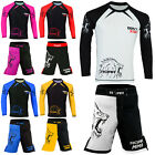 ROAR Mixed Martial Art Shorts No Gi Fight Wear Rash Guard Jitsu Grappling Set
