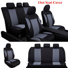 9Pcs Durable Universal Car Auto Breathable Polyester Seat Cover Set Black + Gray