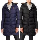 Womens Quilted Puffer Bubble Faux Fur Lined Hood Warm Zip Thick Parka Jacket