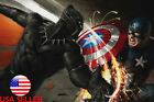 "Black Panther Captain America Anime 36"" x 24"" Large Wall Poster Print Marvel #2"