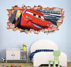 Cars 3 Movie McQueen Smashed Wall Decal Home Decor Wall Art Sticker Mural LT01