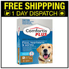 Comfortis Plus For Dogs Flea Heartworm & Worm Treatment 3 Pack - All Sizes