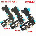 10PCS Charger Charging Dock Port Flex Cable for iPhone 5 5C 5S 6 6S 7 Plus