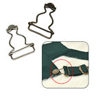10pcs 25mm Bronze Silver Small Dungaree Buckles Metal Fasteners Suspender Clips