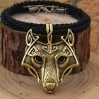 Yage 5Colors 1pcs Norse Vikings Pendant Necklace Norse Wolf Head Necklace Ori...