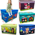 Kids Childrens Large Storage Toy Box Boys Girls Books Chest Clothes Seat Stools