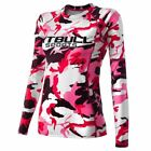Camo Pink Women Long Sleeve Compression Shirt PitBull Sports GYM Fitness