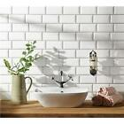 TILE SAMPLE & DEALS Bevelled Matt White Brick Metro Wall Tile 10 X 20CM