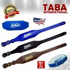"""TABA Weight LiftinG Back Support 4"""" Leather Belt Strap Gym Power Fitnes Training"""