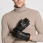 62055 Men's Genuine Leather Winter Wrist Touchscreen Police Driving Ski Gloves