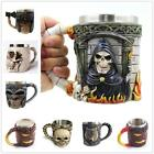 Double Wall Stainless Steel Skull Wolf Mugs Coffee Cup Mug Hallowmas Gift