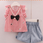 Children's Clothing Sets Cotton Tees+Short Pants Outfits Baby Girls Clothes Sets