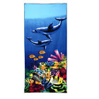 Beach Towel Microfiber Camping Bath Gym Travel Sports Swimming sea tiger dophin