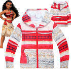 MOANA girls clothing top hoodie thin jacket tracksuit outfit size 2-8 AU STOCK