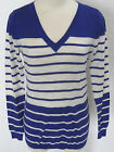 BANANA REPUBLIC Women's Blue & White Striped Light Weight Sweater Size XS