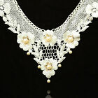 Fashion Hollow out Lace Flower Detachable False Collar Necklace