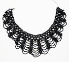 Black Bead Tassels Detachable False Collar Necklace