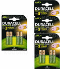 Duracell Plus AAA Rechargeable Batteries NiMH 750mAh Stay Charged HR03 Duralock <br/> Quantity Available in 2, 4, 8,12,16 Batteries UK Seller