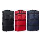 30 / 36 / 40, Expandable Rolling Duffel Bag Wheeled Spinner Suitcase Luggage
