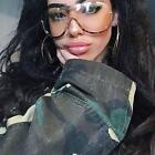 Women Big Frame Glasses Oversized One Piece Sunglasses Gradient Glasses OFUK
