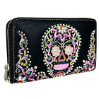 Montana West Sugar Skull Wallet Halloween Day of the Dead De Los Muertos Western