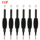 6PCS/Lot Sterile Disposable Tattoo Nozzle Needle Tips and Tube 3/4 Grip_TA110