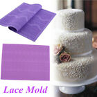 Large Flower Lace Fondant Mold Wedding Sugarcraft Icing Mat Cake Pastry Decor