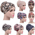 Women Lady Stretch Printing Turban Hat Cancer Chemo Hair Loss Cap Head Cover