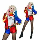Harley Quinn Ladies Halloween Suicide Squad Womens Villain Fancy Dress Costume